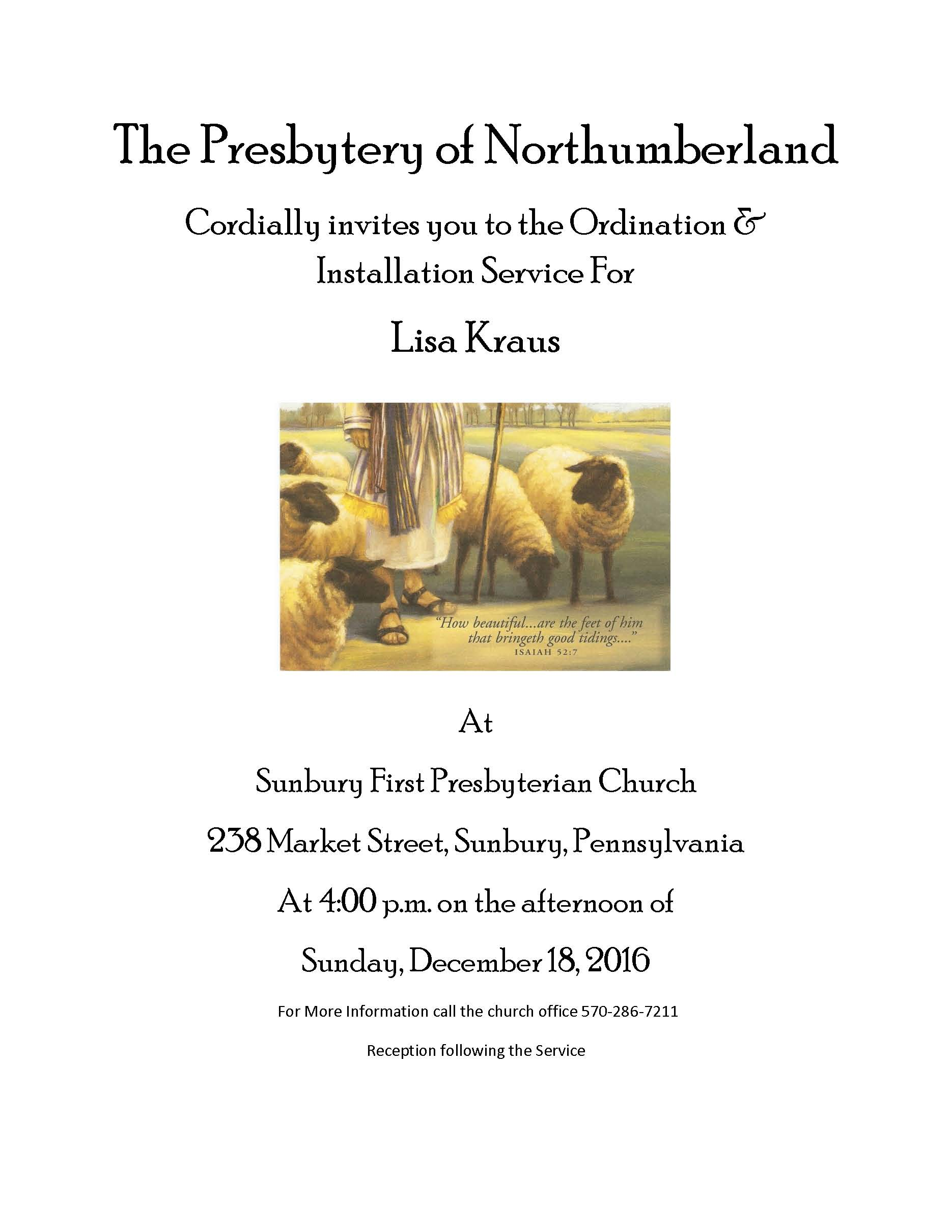 lisa-kraus-ordination-annoucement